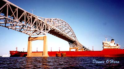 Duluth High Bridge with Ship